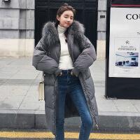 羽绒女中长款过膝2018新款韩国外套女装冬季棉衣反季加厚棉袄