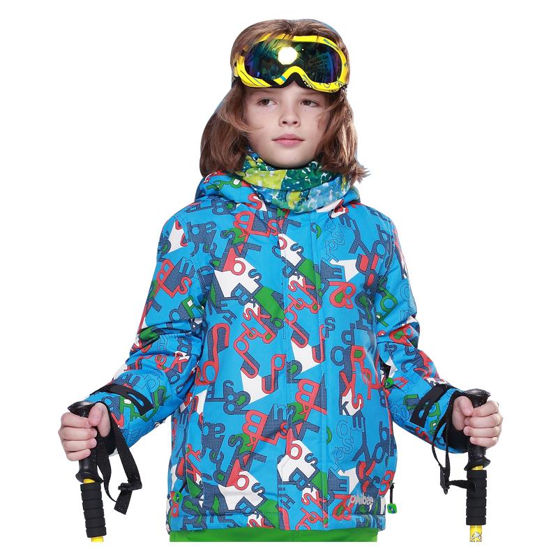 儿童滑雪衣户外登山服保暖儿童冲锋衣衣男童