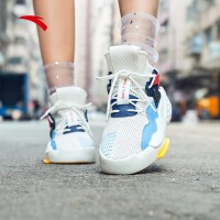 安踏女板鞋休闲鞋2019春季新款官方时尚霸道休闲鞋板鞋女鞋12928088
