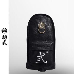 【支持礼品卡支付】初�q中国风潮牌复古狮子头男女死飞骑行单肩斜挎前后背胸包43004
