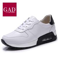 松糕鞋女新款厚底百搭韩版韩版系带小皮鞋英伦风布洛克女鞋休闲鞋