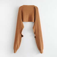 女装秋冬欧美风连袖子设计感针织围巾保暖长款围脖女潮