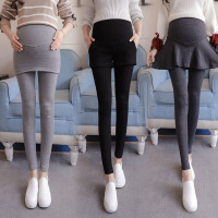 孕妇裤秋季外穿长裤裙孕妇打底裤子秋装保暖加绒厚假两件托腹裤
