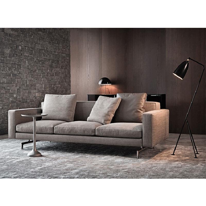 【品质甄选 质保三年】北欧舒适系亲肤沙发W1841 组合沙发转角沙发牛皮沙发羽绒沙发乳胶沙发支付礼品卡 送靠枕 可拆洗 送货到家