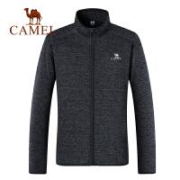camel骆驼男装年秋冬新款保暖拉链立领防风长袖夹克跑步运动外套男