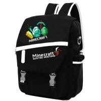 秀洛苦力怕双肩包游戏初高中学生书包我的世界minecraftJJ怪背包