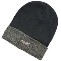 毛线帽子男士秋冬天中老年人帽户外保暖棉帽加绒加厚针织帽