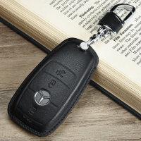 新款18款奔驰E级钥匙包新S级S320L新E级E200 E300L钥匙套包真皮钥匙扣
