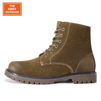 美国第一户外 时尚休闲保暖男士雪地靴男版鞋中筒工装鞋冬男鞋