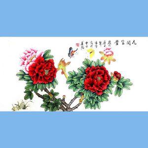 北京著名工笔画家,北京市美协会员,北京九久书画收藏文化交流中心画家凌雪(花开富贵)7