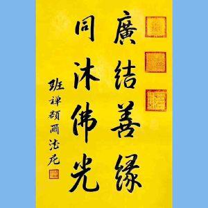中国佛教协会副会长,中国佛教协会西藏分会第十一届理事会会长十三届全国政协委员班禅额尔德尼确吉杰布(广结善缘