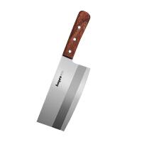 拜格(BAYCO) 菜刀木柄黑色柄单刀切片刀家用不锈钢厨师刀切菜刀水果刀厨房刀具料理刀切肉刀