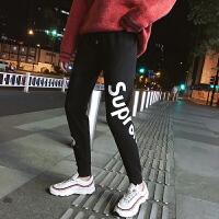 九分裤男潮青少年修身束脚裤男士韩版休闲裤黑色青年运动裤哈伦裤YC-860