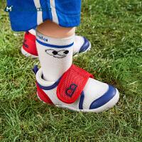 迷你巴拉巴拉婴儿学步鞋2021夏款男女宝宝软底透气鞋子防滑不掉