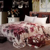 君别超厚毛毯毛毯被子双层加厚冬季双人毯子 单人学生宿舍保暖珊瑚绒毯 200x230cm 约8斤