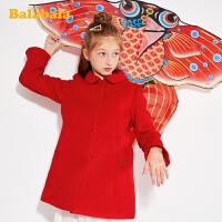 【2.26超品 5折价:174.95】巴拉巴拉童装女童呢子外套儿童大衣2019新款春装中大童羊毛呢衣女