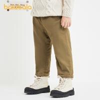 【8.4券后预估价:70.1】巴拉巴拉童装男童裤子儿童长裤小童休闲裤冬装加绒文艺风