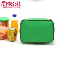白领公社 饭盒袋 迷你双层手提保温饭盒袋午餐便当包女士零食袋儿童学生小拎包饭盒包带饭包