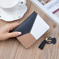 零钱包少女士短款2018新款学生小清新折叠可功能韩版钱夹皮夹