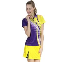 满百包邮 佛雷斯/FLEX羽毛球运动服女款独特印花速干WS0730B 紫色