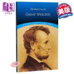 【中商原版】亚伯拉罕 林肯的伟大演讲稿 英文原版 Great Speeches Dover Thrift Editio