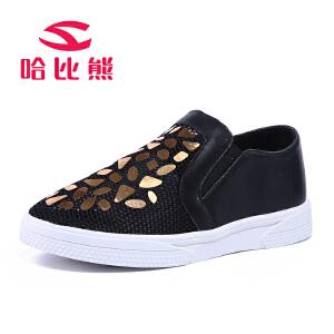 哈比熊童鞋女童鞋春秋款韩版儿童网鞋透气休闲运动鞋男童鞋