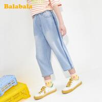 【品类日4件4折】巴拉巴拉儿童裤子女童牛仔七分裤夏装童装女大童休闲时尚