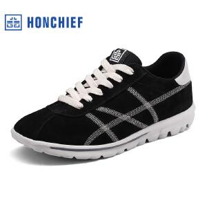 HONCHIEF 红蜻蜓旗下 2017秋季新款潮流舒适运动休闲鞋男士单鞋