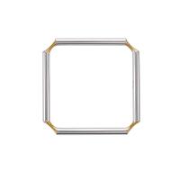 壹禾/iAu 点金合璧手镯 黄金+925银原创时尚个性气质女款手环 均码