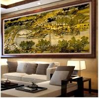 纯手工十字绣成品 清明上河图满绣2米2.5米3米客厅大幅绣好的出售 KS-