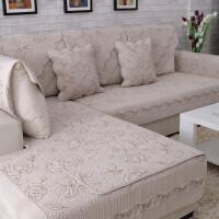 四季全棉防滑沙发垫布艺纯棉简约冬季田园坐垫组合通用皮沙发巾套