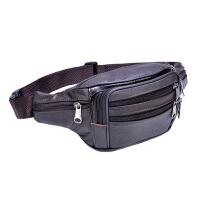 男士腰包胸包手机腰包头层牛皮单肩斜挎包收银包生意包包