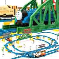 益智音乐托马斯电动轨道小火车头套装火车轨道车儿童玩具火车玩具