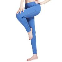 [当当自营]皮尔瑜伽(pieryoga)2018瑜伽服女裤健身速干春夏款紧身弹力运动服跑步裤 X81805灰蓝M