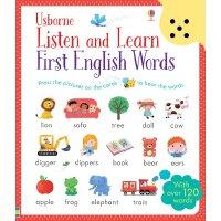 英文原版 触摸可发声英语单词卡片 Listen and Learn English Words 儿童低幼启蒙书 进口原版