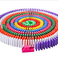 多米诺骨牌儿童益智智力玩具成人男女孩比赛小学生1000片大号积木