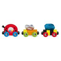 Hape虫虫伙伴火车18个月以上儿童早教火车轨道配件玩具婴幼玩具木制玩具E3806