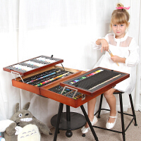 儿童画笔文具套装男孩女孩绘画学习用品文具奖品礼物礼盒木质生日