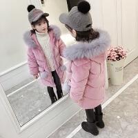 女童棉衣2017新款童装韩版中长款儿童羽绒外套宝宝洋气装潮