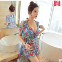 韩版潮流时尚分体性感比基尼泳衣女三件套大胸小胸聚拢显瘦泳装