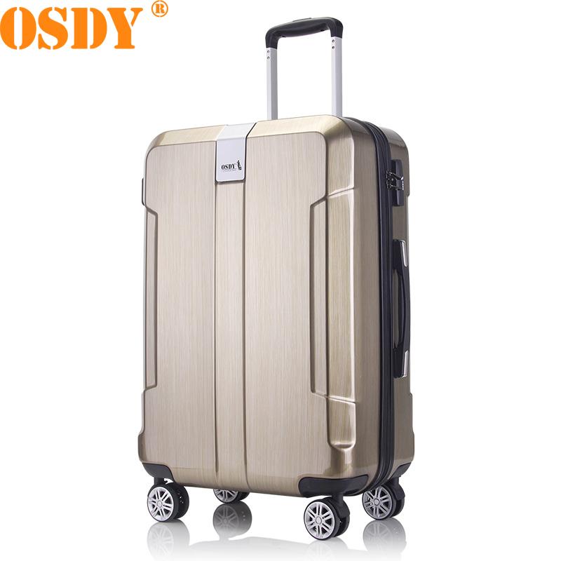 【可礼品卡支付】28寸 OSDY品牌新品  拉杆箱 A926 行李箱 旅行箱 托运箱 男女通用拉杆箱 静音万向轮轻便拉链款,经典造型,低调不低俗