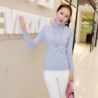 春韩版修身高领堆堆领针织打底衫毛衣套头女YZ-c0801