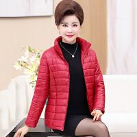 中老年棉服 女士时尚加厚棉服2020秋冬新款女式立领短款棉衣休闲妈妈装外套