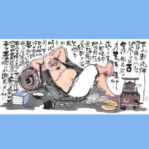 国内文与画俱佳的艺术家中国北方书画研究会常务理事国家一级美术师刘子玉(世上都晓神仙好)