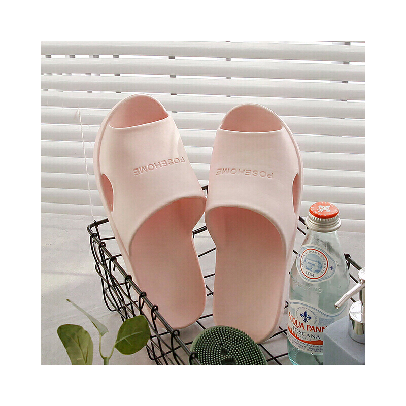 朴西浴室拖鞋女夏家居室内软底防滑洗澡家用塑料情侣居家防臭拖鞋