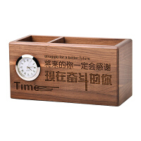 多功能笔筒摆件办公室创意时尚可爱学生复古中国风实木笔桶收纳盒