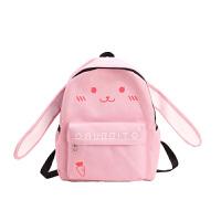 韩版帆布女可爱猫咪小休闲旅行中小学生书包校园