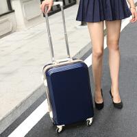 行李箱女拉杆箱万向轮20寸22旅游箱包韩版24小型密码箱子旅行箱男 藏青色-铝框版(防刮耐摔) 28寸(超大,出国或一