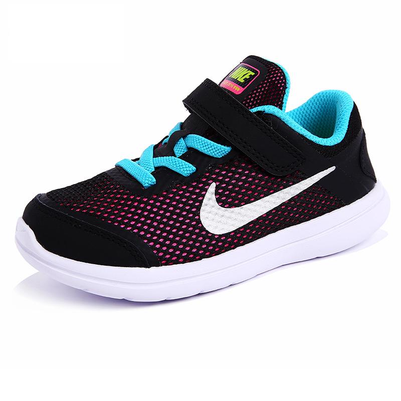 耐克(Nike )童鞋户外男童运动鞋小童透气网面夏季新款 834285-001黑