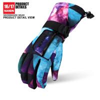 冬季保暖手套骑行登山棉手套儿童滑雪手套